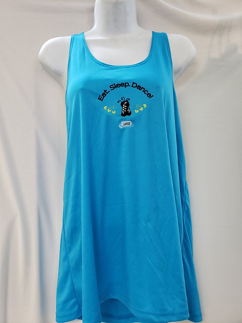 Ladies Blue Racer-back Irish Dance Tank