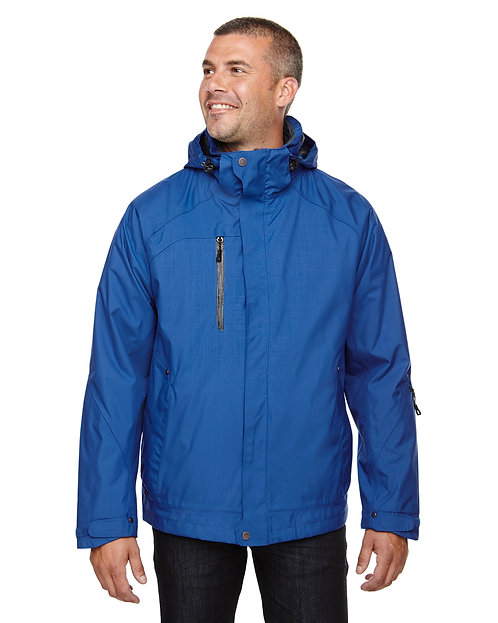 88178Prime Ash City - North End Men's Caprice 3-in-1 Jacket with Soft Shell Line