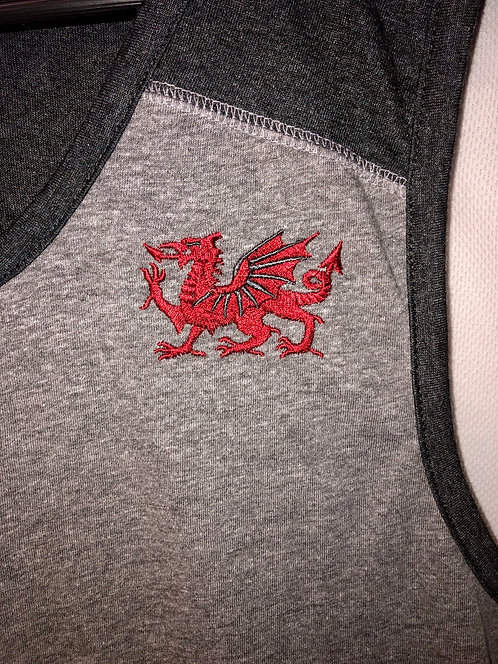 Welsh Dragon Two-Toned Contrast Tank