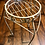 Thumbnail: White Metal Stand with Jewel Tones Hand-Braided Basket
