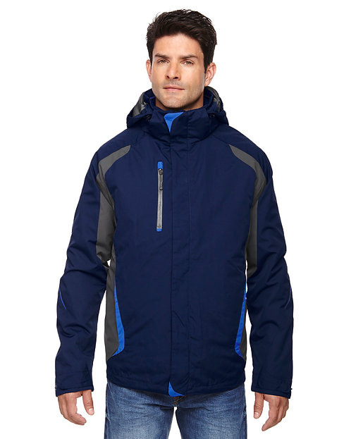 88195Prime Ash City - North End Men's Height 3-in-1 Jacket with Insulated Liner