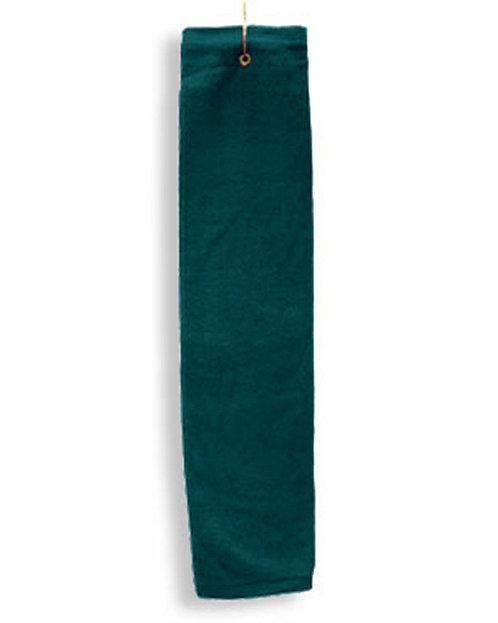 Tri-Fold Hemmed Hand Towel with Center Grommet and Hook