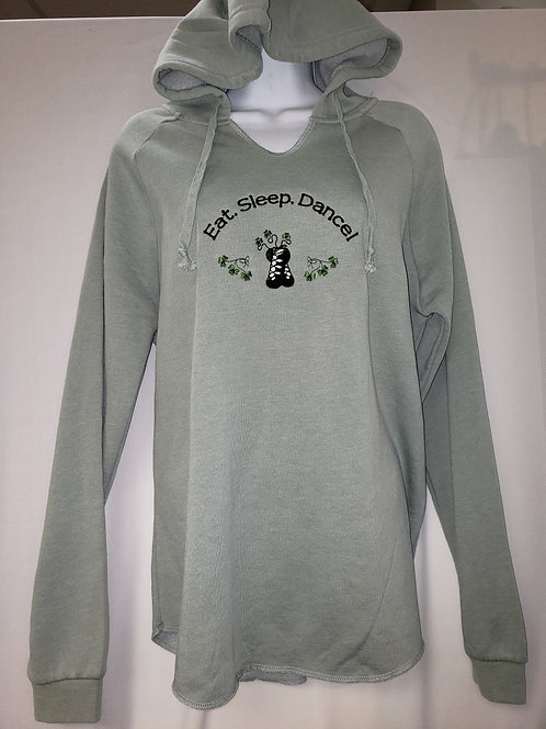 Sage Lightweight Wave Wash Hooded Sweatshirt Irish Dance