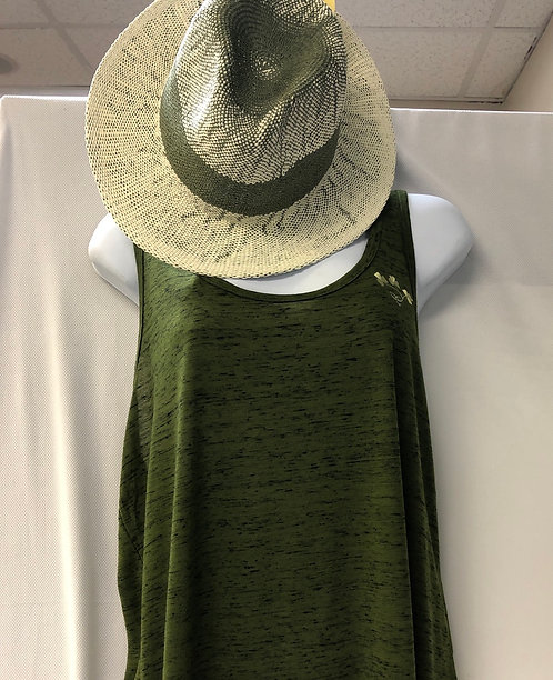Racerback Tank/ Ombre Straw Hat