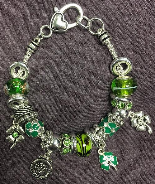 Lucky Clover Pandora-style charm bracelet