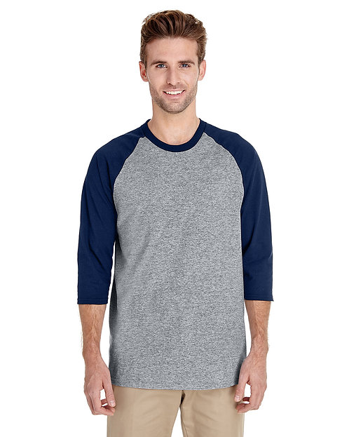 G570 w/Name on Back. Gildan Adult Heavy Cotton 5.3 oz. 3/4-Raglan Sleeve T-Shirt