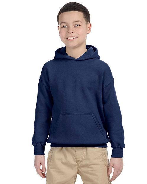 G185B Gildan Youth Heavy Blend™ 8 oz., 50/50 Hood
