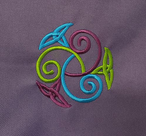 Purple Celtic Knot Drawstring Bag w/pocket