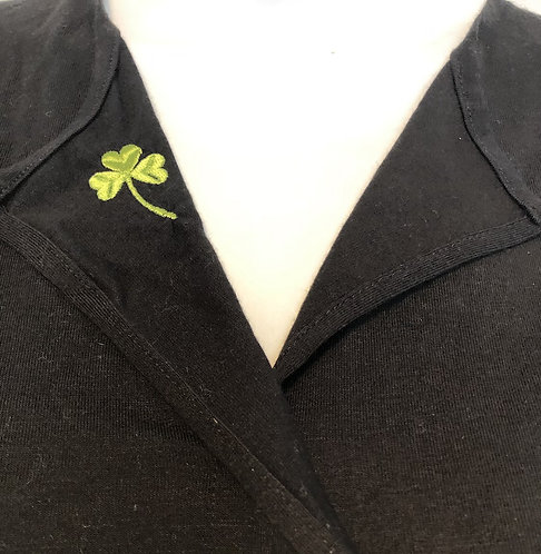 ¾-Sleeve Soft Split Neck Fashion Top