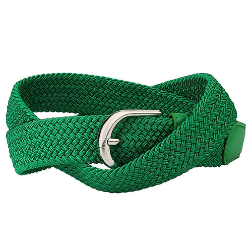 Kelly Green Stretch Belt (No Notches)