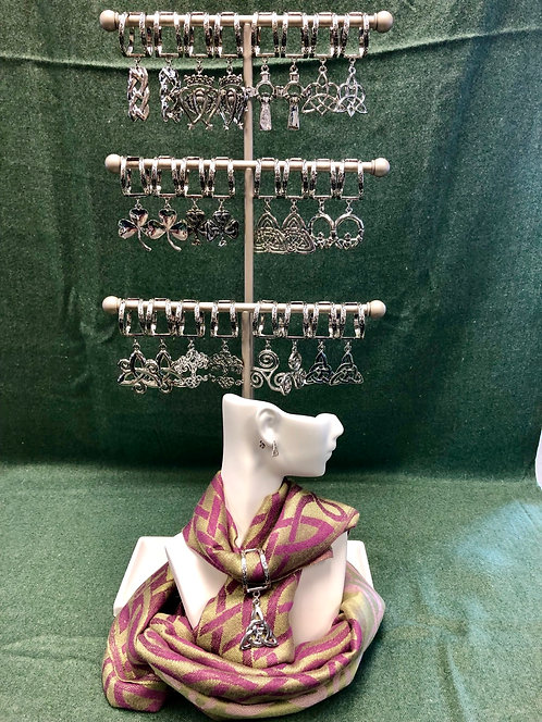 48 pieces with FREE Scarf Charm Counter Display & scarf mannequin