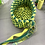 Thumbnail: Blue and yellow oval braided basket
