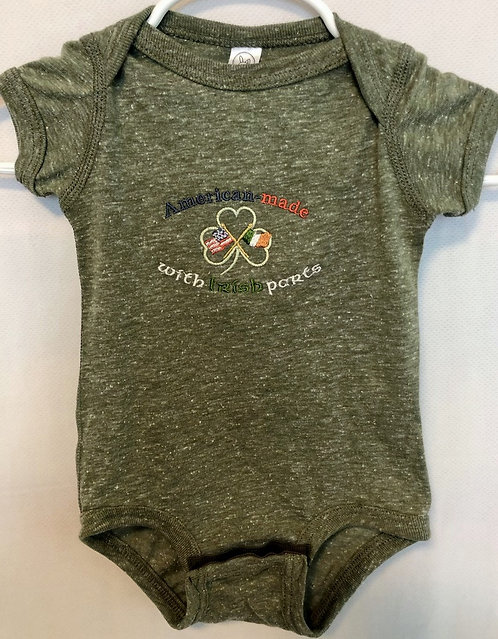 Infant Military Green Marble Onesie