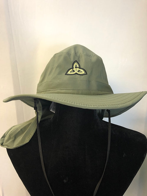 Wide-Brim Hat w/ Sun Flap