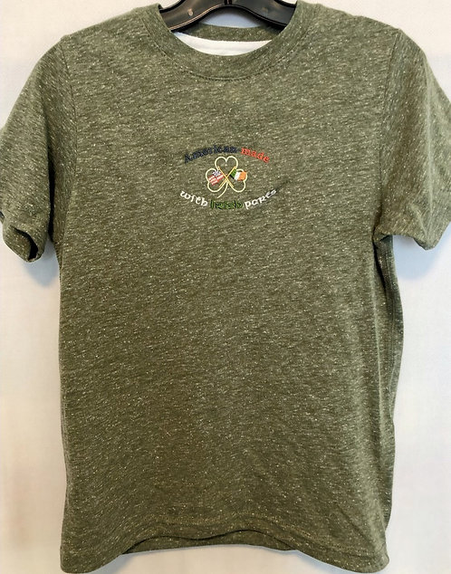Youth/Toddler Military Green Marble Tee