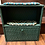 Thumbnail: Green Wicker Shelf with hand-braided rug shelf liners