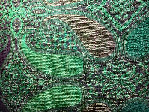 Green Paisley Pashmina Scarf