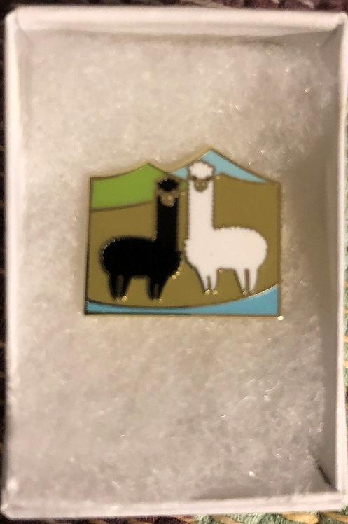 Alpaca & Sheep Enamel Pins w/ Gift Box