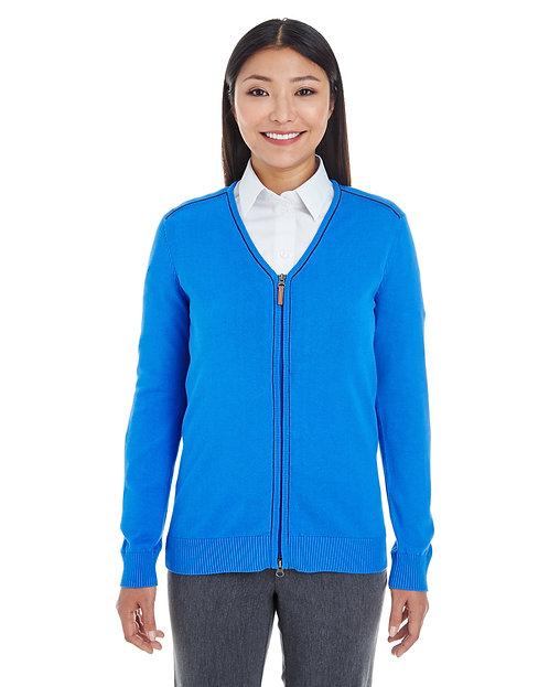 DG478W Devon & Jones Ladies' Manchester Fully-Fashioned Full-zip Sweater
