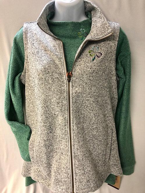 Marble Gray Sweaterfleece Vest