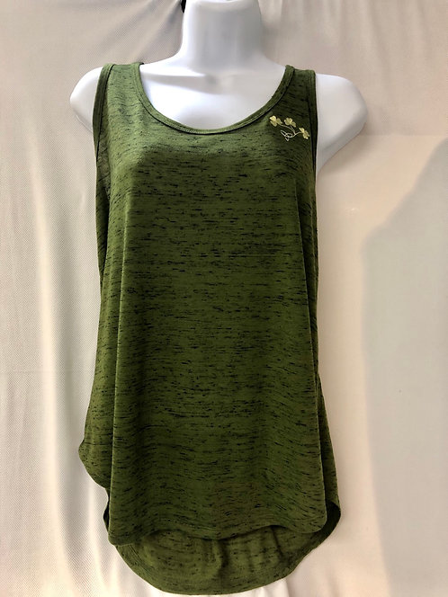 Olive Marble Jersey Racerback Tank