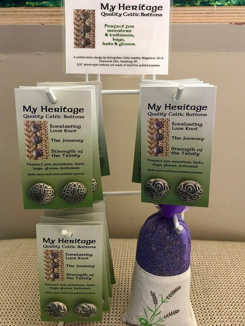My Heritage Celtic Buttons Counter Display