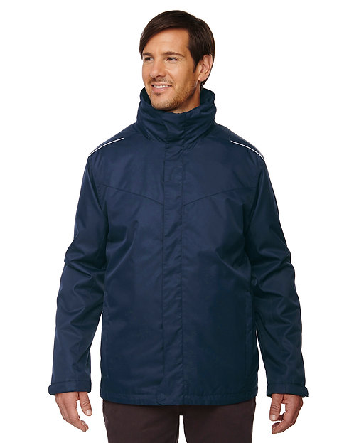 88205 Ash City - Core 365 Men's Region 3-in-1 Jacket with Fleece Liner