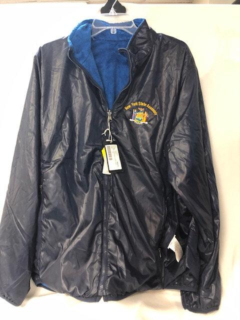 Men's Navy Blue Fur Lined Windbreaker