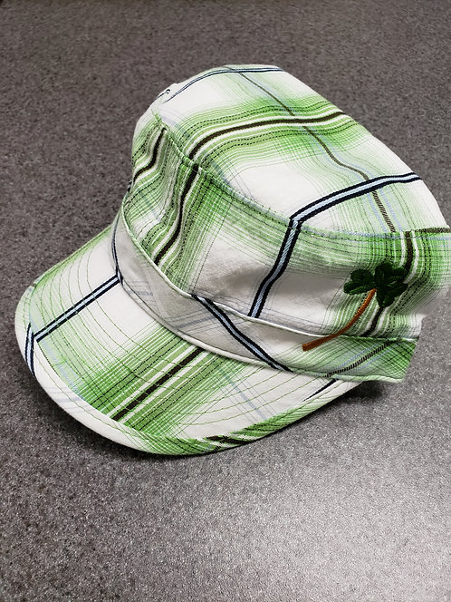 Green Plaid Cap