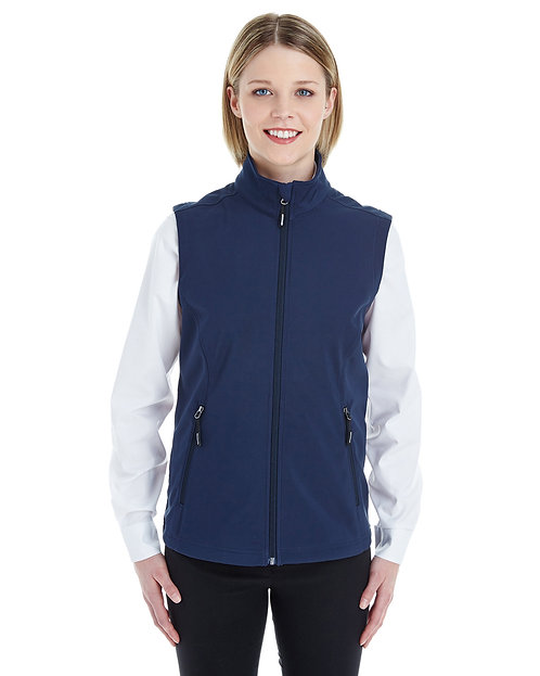 CE701W Ash City - Core 365 Ladies' Cruise Two-Layer Fleece Bonded Soft Shell Ves