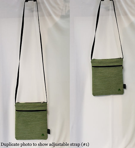 USA-made Cross-body adjustable strap hand bag (Group 1: Bags #1-14)