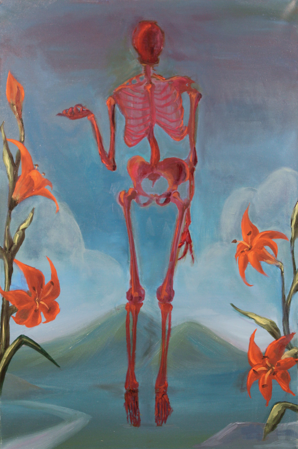Skeleton in Landscape