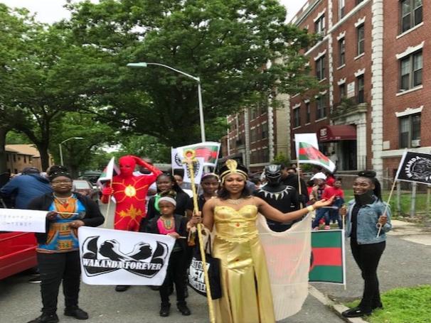 Wakandan Delegation at the East Orange Memorial Day Parade