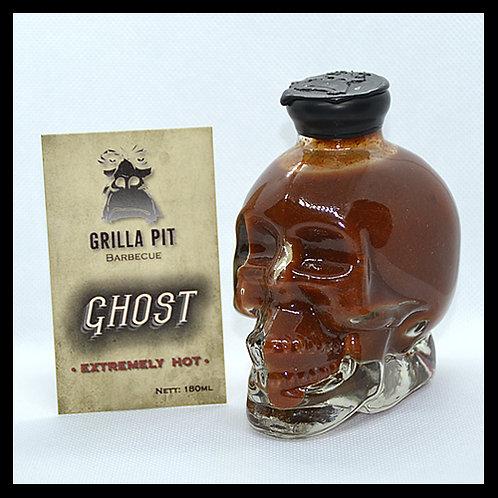 Ghost Pepper Extremely Hot Sauce in Skull Bottle