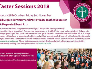 Taster Sessions @ St Mary's - 29th October to 2nd November