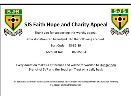 SJS Faith, Hope and Charity Appeal