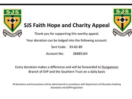 SJS Faith, Hope and Charity Appeal