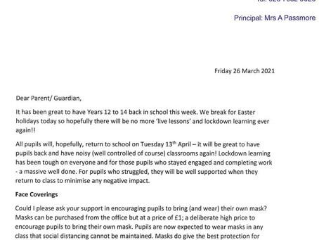Junior Letter
