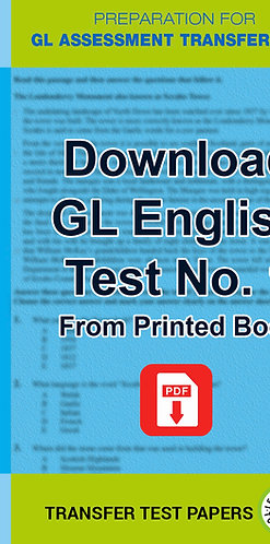 GL English Transfer Test 1