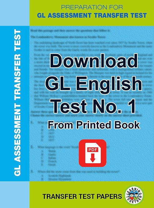 Download GL English Transfer Test no 1 for immediate use