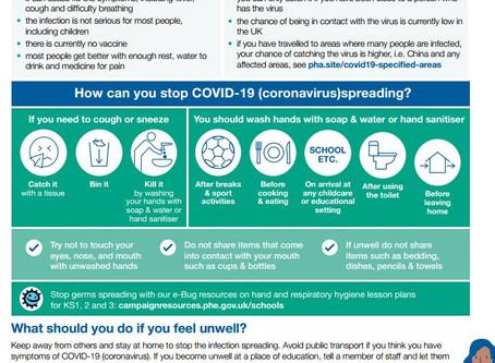 Advice on COVID-19 (Coronavirus)