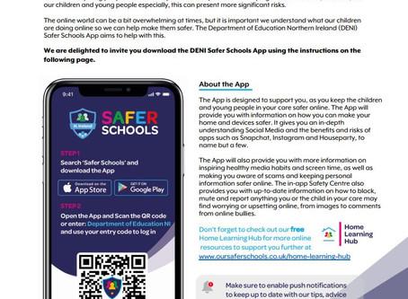 Parent/Carer letter - DENI Safer Schools App