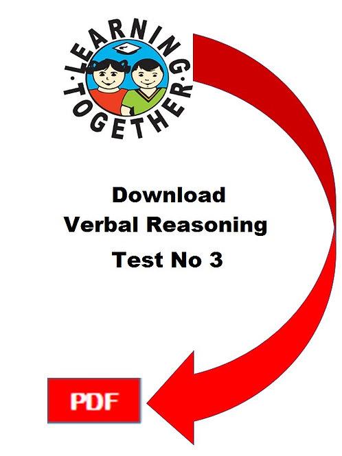 11+ Verbal Reasoning Test 3
