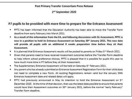 Post Primary Transfer Consortium Press Release