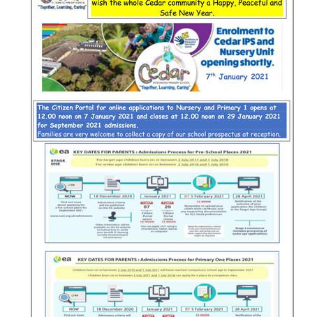Cedar January News