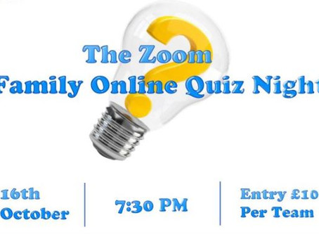 Zoom Family Online Quiz Night