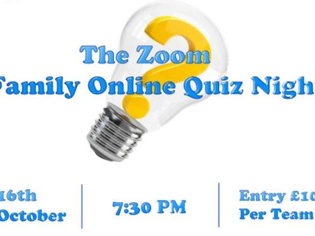 Zoom Family Online Quiz Night