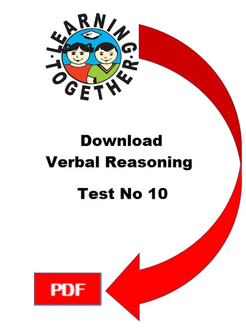 11+ Verbal Reasoning Test 10