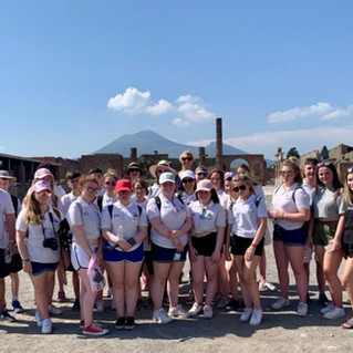 Pompeii with Mount Vesuvius in the backg