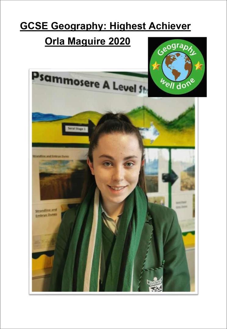 GCSE Highest Achievement 2020